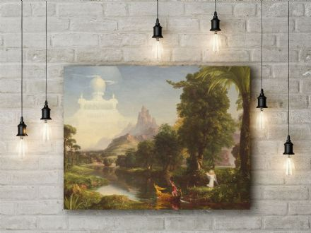 Thomas Cole: The Voyage of Life: Youth. Fine Art Canvas.